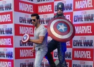 Varun Dhawan snapped attending 'Captain America' event