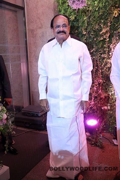 Venkaiah Naidu during Sreeja's wedding reception