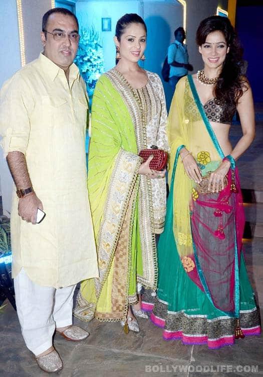 Vidya Malvade, Rohit Roy, Manyata Dutt, Shabbir Ahluwalia at a Diwali bash