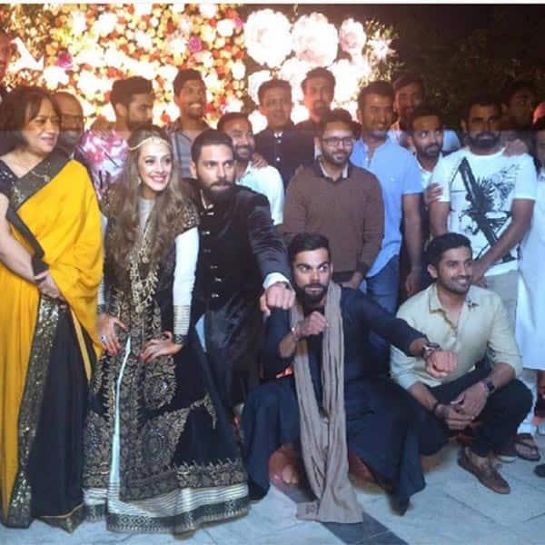 Virat Kohli attended Yuvraj Singh and Hazel Keech's Sangeet Ceremony