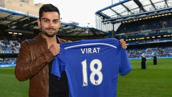 Virat Kohli visits Chelsea FC's football ground!