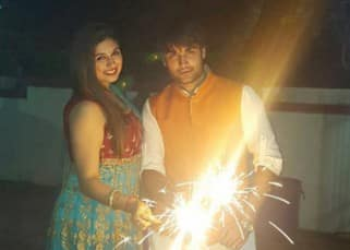 Vivian Dsena celebrating Diwali with Vahbiz Dorabjee