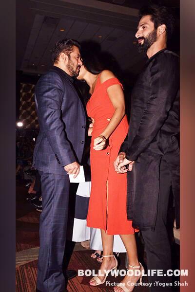 What is Katrina Kaif whispering into Salman Khan's ears?