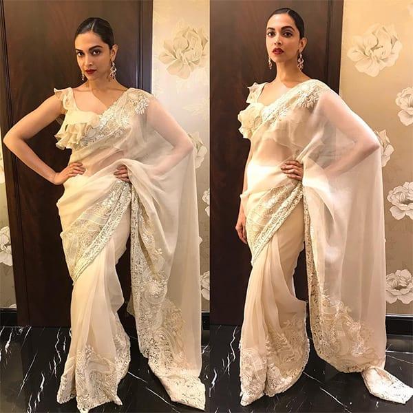 No one but Deepika Padukone can justify a saree so well - Deepika ...