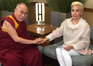 When Hollywood's rockstar Lady Gaga met spiritual master Dalai Lama during Indianapolis!