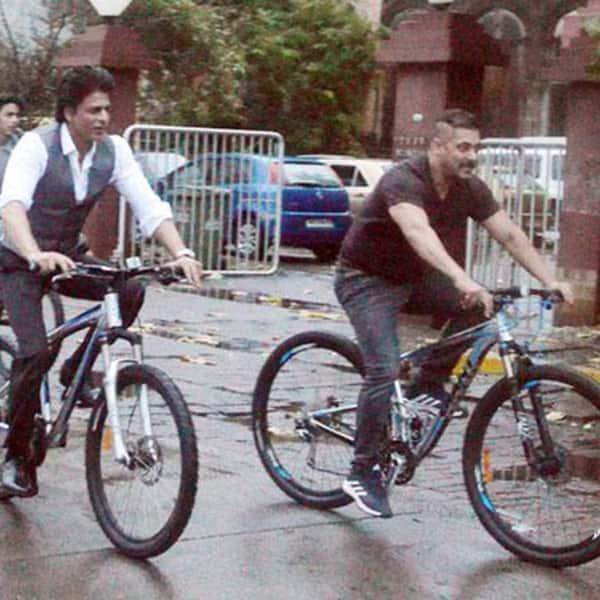 When Shah Rukh Khan joined Salman Khan for a cycle ride