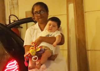 Image result for Saif Ali Khan's son Taimur came to meet Nani Babita