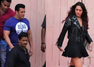 While Salman Khan dons his casual avatar, Sonakshi Sinha sports a rock chic look for the special song of Yamla Pagla Deewana: Phir Se