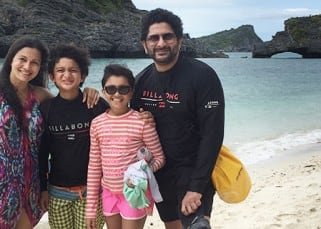 With busy schedule ahead, Arshad Warsi takes a perfect family trip to Thailand, see pics