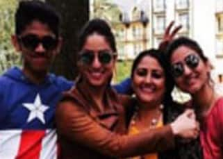 Yami Gautam poses with family during her vacations