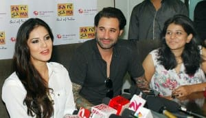 Sunny Leone meets the media after the release of 'Jism 2′