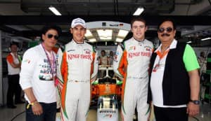 Shahrukh Khan promotes 'RA.One' at Formula One