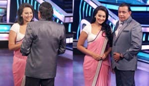 Mithun Chakraborty makes Sonakshi Sinha smile!