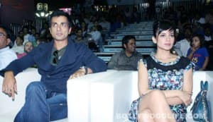 Kangna Ranaut, Sonu Sood and Hazel Keech at Indian Amateur Boxing Federation launch event