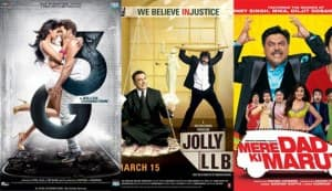 Box office report: Jolly LLB races ahead of Mere Dad Ki Maruti and 3G in the opening weekend