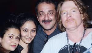 Salman Khan and Sanjay Dutt party with the Guns N' Roses