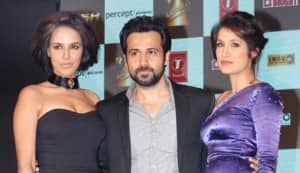 Emraan Hashmi, Neha Dhupia, Sagarika and Aditya Pancholi at the music launch of Rush