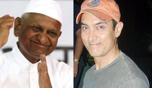 Will Aamir Khan join hands with Anna Hazare?