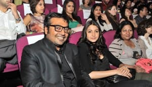 Anurag Kashyap, Anushka Sharma and Tannishtha Chatterjee at London Indian Film Festival 2012