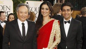 Tabu at the Golden Globe Awards: The Life of Pi star looks resplendent in a red Abu-Sandeep saree