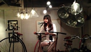 Anushka Sharma enjoys her ride on a cool vintage bicycle!
