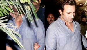 Is Saif Ali Khan hiding behind a tree?