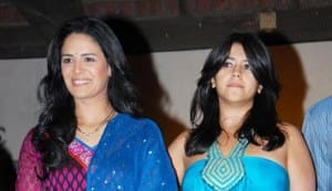 Ekta Kapoor, Mona Singh and Pawan Shankar at the launch of 'Kya Hua Tera Vada'