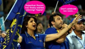 IPL 2013: What do Shilpa Shetty and Raj Kundra talk about during the matches?