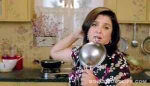 Whose frocks did Farah Khan wear in 'Shirin Farhad Ki Toh Nikal Padi'?