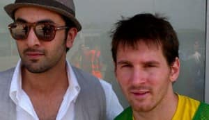 Ranbir Kapoor meets his sports idol Messi