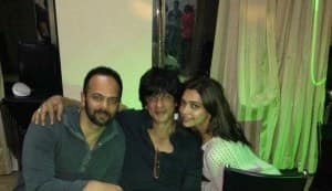 Shahrukh Khan's surprise birthday bash for Rohit Shetty: view pics!