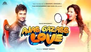 AJAB GAZABB LOVE song Boom boom: Jackky Bhagnani locks lips with Nidhi Subbaiah