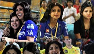 IPL 2013: Shilpa Shetty and Sakshi Dhoni bond during Chennai Super Kings versus Rajasthan Royals match!