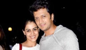 Riteish Deshmukh and Genelia D'Souza attend the Ham show