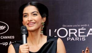 Sonam Kapoor launches L'oreal Sunset Cannes collection