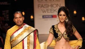 Ileana DCruz walks the ramp for Vikram Phadnis in Lakme Fashion Week 2013