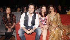 Tusshar Kapoor, Rishi Kapoor, Kulraj Randhawa, Sridevi at the audio release of 'Chaar Din Ki Chandni'