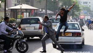 Bullett Raja on location pics: Why is Saif Ali Khan chasing Gulshan Grover?