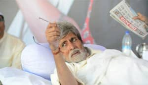 Satyagraha on the sets pics: Why is Amitabh Bachchan starving?