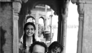 Sonam Kapoor as a schoolgirl on the sets of Raanjhnaa