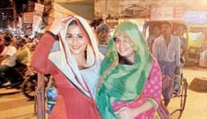 Vidya Balan goes sari shopping in Varanasi