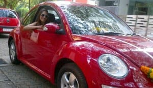 Bipasha Basu gets a new Beetle car, names it Brad!