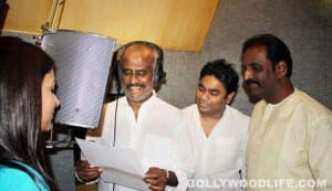 Rajinikanth croons for Rahman in 'Kochadaiyaan'