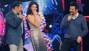 Jacqueline Fernandez and Anil Kapoor promote Race 2 on Bigg Boss 6