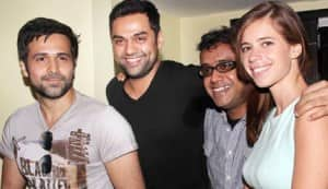 Kalki Koechlin, Abhay Deol, Emraan Hashmi and Dibakar Banerjee at the 'Shanghai' post trailer launch