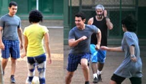 In Focus: Aamir Khan plays soccer with Azad, Ira and Kiran!