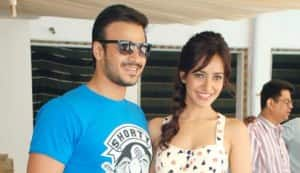 Vivek Oberoi and Neha Sharma at the promo launch of 'Jayanti Bhai Ki Luv Story'