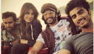 Arjun Kapoor, Ranveer Singh and Priyanka Chopra have a blast while shooting for Gunday: View pics!