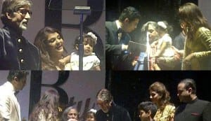 Aaradhya Bachchan at grandpa Amitabh Bachchan's 70th birthday bash: see pics!
