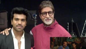 Ram Charan Teja meets Amitabh Bachchan on the sets of 'Zanjeer' remake